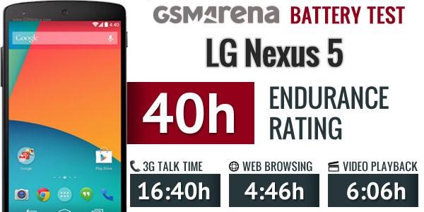 مشخصات باتری LG nexus 5
