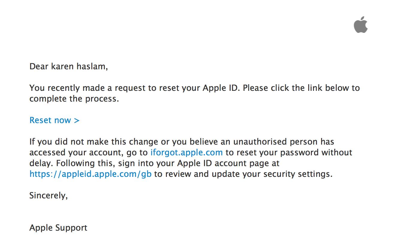 فعال کردن اپل آیدی قفل یا غیرفعال شده