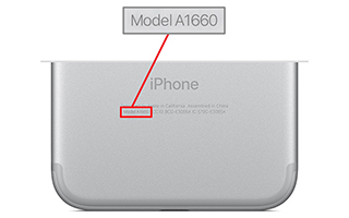 iPhone 7 back number