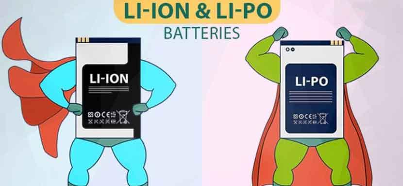ساختار باتری گوشی لیتیوم یون و لیتیوم پلیمر
