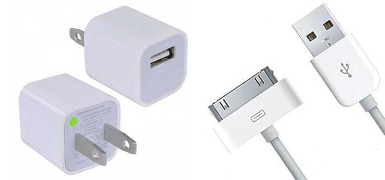 شارژر و کابل ایفون 4 و ایفون 4 اس Apple A1265