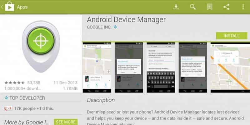 ریست فکتوری ال جی با اپلیکیشن android Device Manager