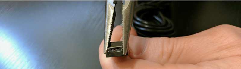 تعمیر کابل میکرو usb | چطور مشکل شل شدن و لق زدن کانکتور کابل میکرو usb را حل کنیم؟