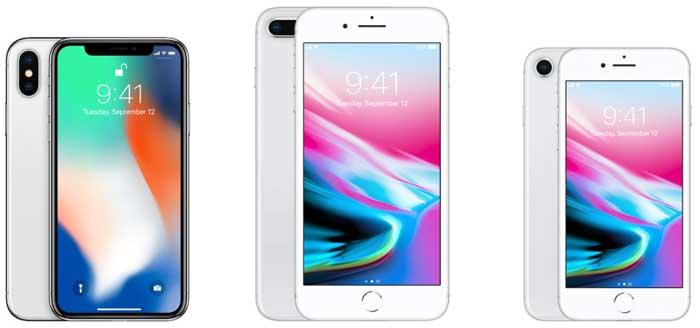 مقایسه جدیدترین گوشی های آیفون در سال 2018: iphone x, iphone 8,iphone 8 plus