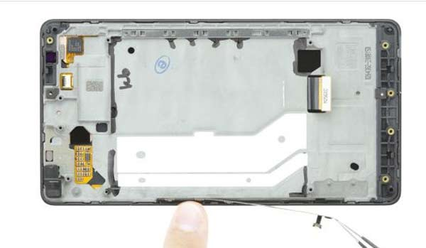 آموزش تعویض تاچ و ال سی دی شکسته lumia 950 xl
