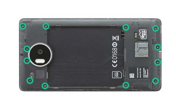 راهنمای تعویض صفحه تاچ و ال سی دی lumia 950 xl