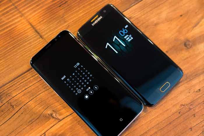 مقایسه گوشی های ال جی جی lg g6 و galaxy s8