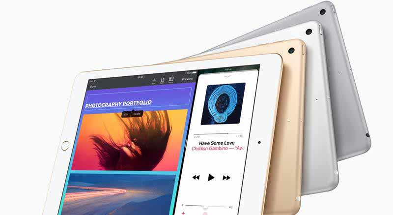 انتخاب های رنگی تبلت اپل آیپد 9.7 اینچ 2017