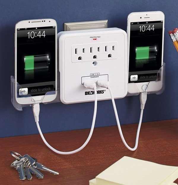 خرید شارژر و کابل شارژ گوشی موبایل؛ ایستگاه شارژ USB چند پورت
