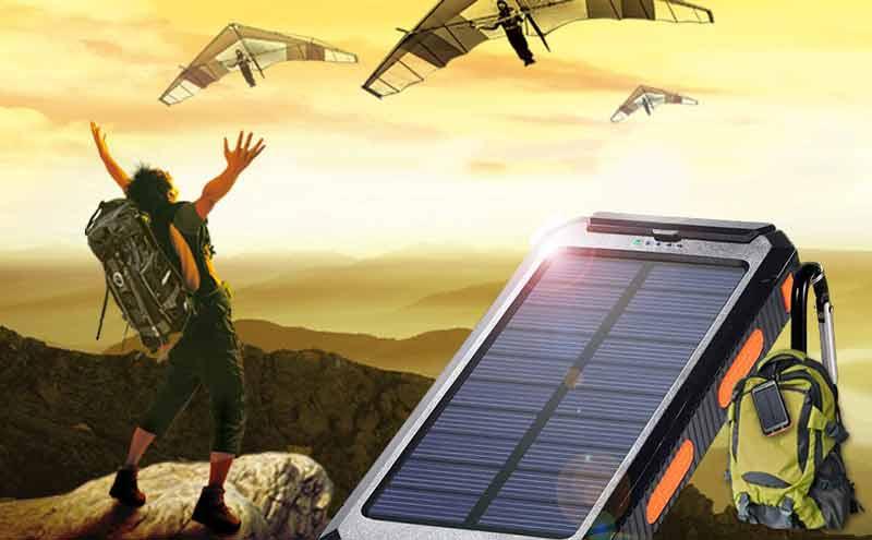 خرید انواع شارژر گوشی موبایل؛ شارژر خورشیدی گوشی موبایل