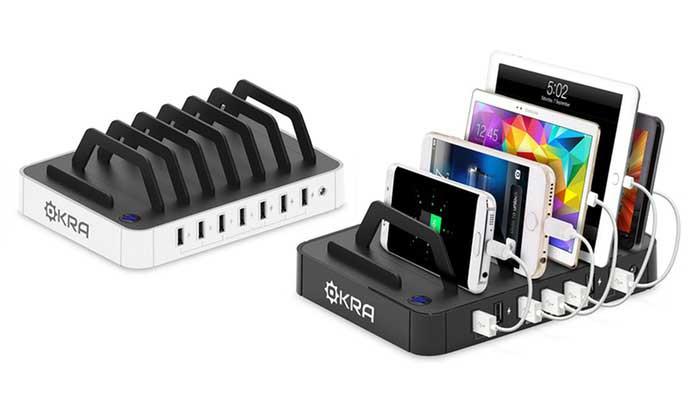 خرید شارژر گوشی موبایل؛ ایستگاه شارژ USB چند پورت