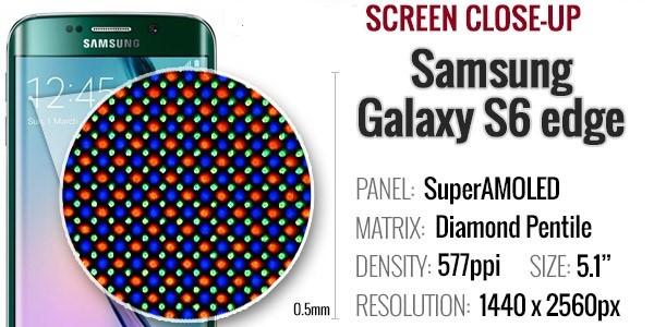 مشخصات تاچ ال سی دی گوشی موبایل S6 edge